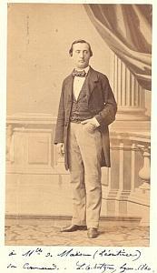 L.G. Hotzeau Tenor Early Opera old CDV Photo 1860'