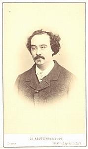 Achille Montaubry Tenor Early Opera old CDV Photo 1860'