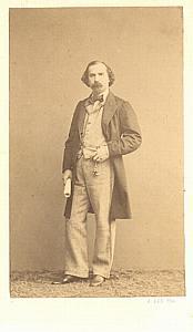 Emile Naudin Tenor Early Opera old CDV Photo 1860'