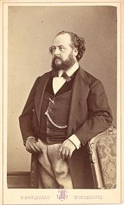 Gustave Roger Tenor Early Opera old CDV Photo 1860'