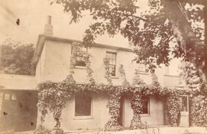 Cottage near London UK, old Hazard CDV Photo 1860'