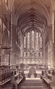 Worcester Cathedral interior UK old Earl CDV Photo 1860