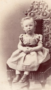 Young Girl Victorian Fashion Clothes UK CDV Photo 1860'