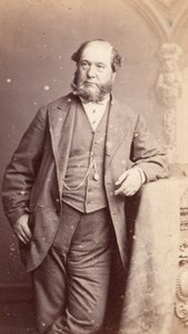 Elegant Man Victorian Fashion Clothing CDV Photo 1860'