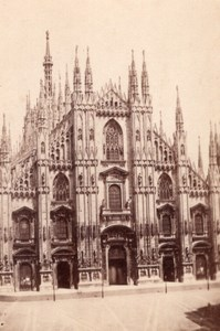Milano Facciata del Duomo Italy old CDV Photo 1860'