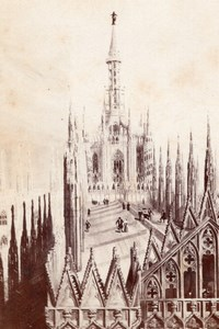 Milano Duomo Roof Italy old CDV Photo 1860'