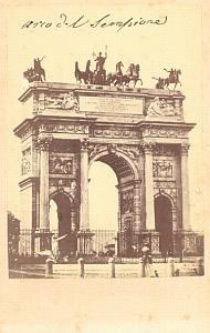 Milano Arco del Sempione Italy old CDV Photo 1860'