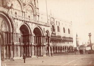 Venezia San Marco Place Italy old CDV Photo 1860'