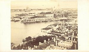 Venezia Panorama Italy old CDV Photo 1860'