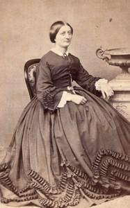 Elegant Woman French Fashion old CDV Photo 1860'