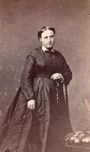 Elegant Woman French Fashion Orleans old CDV Photo 1860