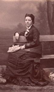 Elegant Woman French Fashion Dijon old CDV Photo 1870'
