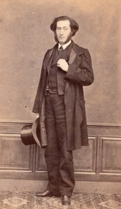Man Empire French Fashion Lyon old CDV Photo 1860'