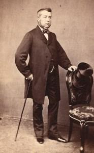 Man Empire French Fashion Dijon old CDV Photo 1860'