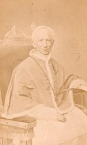 Pope Leon XIII Italy old d'Alessandri CDV Photo 1860'