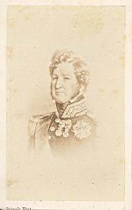 French King Louis Philippe old Franck CDV Photo 1860'