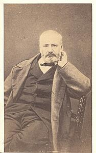 Victor Hugo Universal French Writer old CDV Photo 1860'