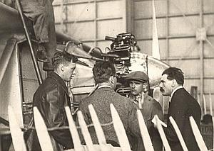 Lindbergh w/ Vacuum Oil Veritas & CIDNA officials Photo