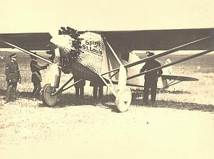 Lindbergh Spirit of Saint Louis Belgium old Photo 1927