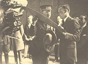Lindbergh and King Albert Ier of Belgium old Photo 1927
