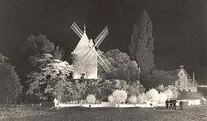 Windmill by night France old Borremans Photo 1937