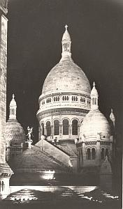 Sacre Coeur Church by night Paris Borremans Photo 1937