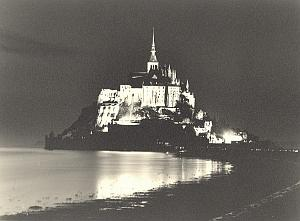 Mont Saint Michel by night Mazda Borremans Photo 1937