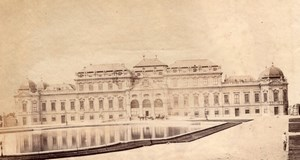 Belvedere castle Vienne Austria old Photo 1880'