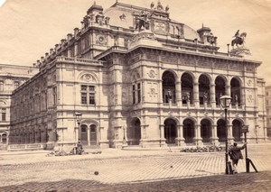 Opera House Wien Austria old Photo 1880'