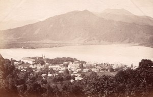 Tegernsee Lake Ferdinand Finsterlin old Photo 1880'