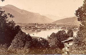 Tegernsee Lake Panorama Finsterlin old Photo 1880'