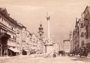 Innsbruck Merchant Street Austria old Photo 1880'