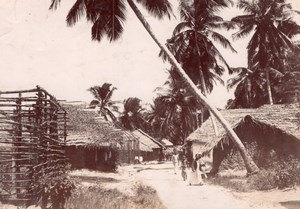 Zanzibar Island Village Africa old Coutinho Photo 1895'