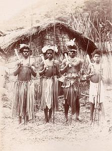 New Caledonia Canak Warriors Oceania old Photo 1890