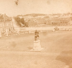 Versailles view Place panorama Old Stereo Photo 1860