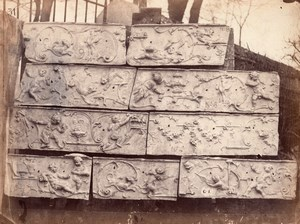 Bercy Castle Rouyer Sculptor old Durandelle Photo 1860'