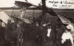Porcheron Airplane crash Aviation old Photo 1911