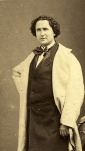 Lafontaine actor Comedie Française old CDV Photo 1860'