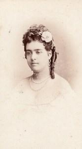 Riquer actress Comedie Française old CDV Photo 1860'