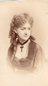 Thomas actress Comedie Française old CDV Photo 1860'