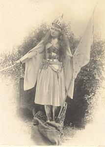 Jeanne d'Arc Parody Meudon France old Photo 1900'