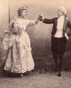 Fancy dress ball couple Dancing Meudon old Photo 1900
