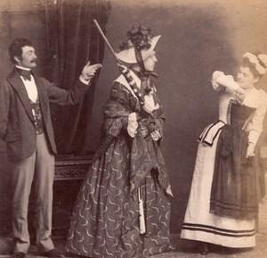Fancy dress ball Sunday Maid Meudon old Photo 1900'