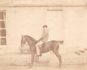 Saddle Horse with rider France old Photo 1870'