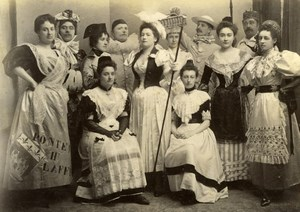Sunday Party Costume Meudon France old Photo 1892