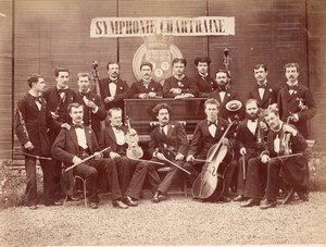 Symphonie Chartraine Orchestra Chartres old Photo 1878