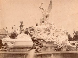 Paris World Fair Luminous Fountain old Photo 1900