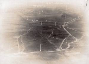 Romanian Front Corbul Military aerial Photo WWI