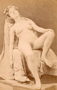 France woman seated risque nude old Photo 1880'