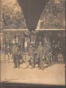France Balloon Aerostier Aeronautical old Photo 1900